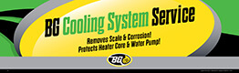 BG Cooling System Service Banner   Removes Scale & Corrosion! Protects Heater Core & Water Pump